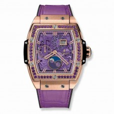 Hublot Spirit Of Big Bang Moonphase King Gold Purple 42mm 647.OX.4781.LR.1205
