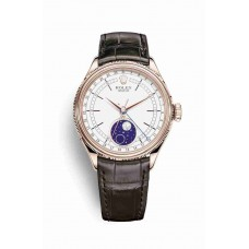 Rolex Cellini Moonphase Everose gold White Dial m50535-0002