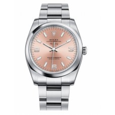 Rolex Air-King Domed Bezel Salmon pink dial 114200 PAO Replica