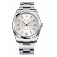 Rolex Air-King Domed Bezel Silver dial 114200 SBLIO Replica
