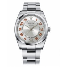 Rolex Air-King Domed Bezel Silver concentric circle dial 114200 SCAO Replica
