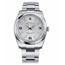Rolex Air-King Domed Bezel Silver dial 114200 SLIO Replica