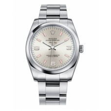 Rolex Air-King Domed Bezel Silver dial 114200 SPIO Replica