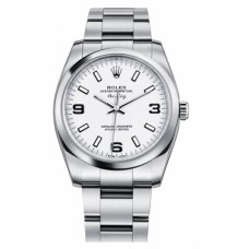Rolex Air-King 114200 Domed Bezel Silver dial Replica