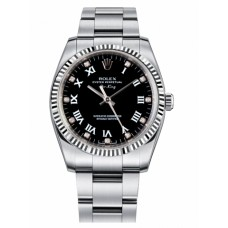 Rolex Air-King White Gold Fluted Bezel Black dial 114234 BKDRO Replica