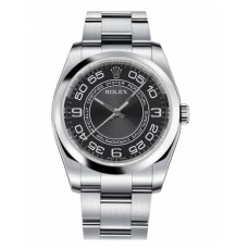 Replica Rolex Oyster Perpetual No Date 116000 Stainless Steel Black dial