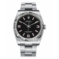 Rolex Oyster Perpetual No Date 116034 Stainless Steel Black dial Replica