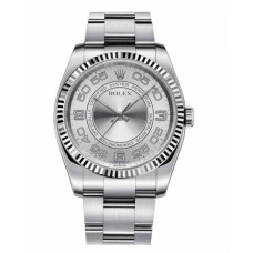Rolex Oyster Perpetual No Date Stainless Steel 116034 Silver dial Replica