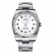 Replica Rolex Oyster Perpetual 116034 No Date Stainless Steel White dial