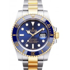 Rolex Submariner Steel and Gold Blue Dial 116613LB Replica