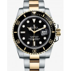 Rolex Submariner Date Two Tone Black Dial 116613LN Replica