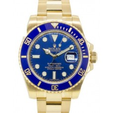 Rolex Submariner Date Yellow Gold Blue Dial 116618LB Replica