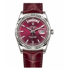 Rolex Day Date 118139 White Gold Cherry Dial
