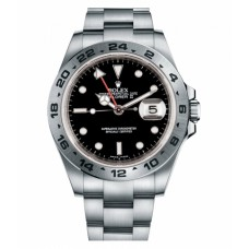 Rolex Explorer II Stainless Steel Black dial 16570 BK Replica
