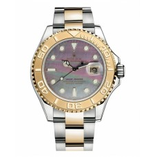 Rolex Yacht-Master Stainless Steel and Yellow Gold Dark mother of pearl dial 16623 DKMOP Replica