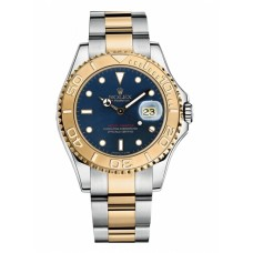 Rolex Yacht-Master Stainless Steel and Yellow Gold Blue dial 168623 BL Replica