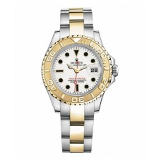 Rolex Yacht Master Stainless Steel and White Gold White dial 169623 Replica