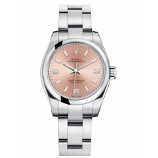 Rolex Oyster Perpetual 176200 No Date Pink dial Ladies replica watch
