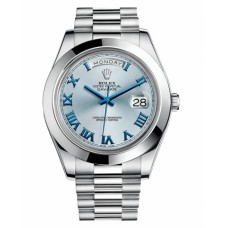 Replica Rolex Day Date II 218206 President Platinum Ice blue dial