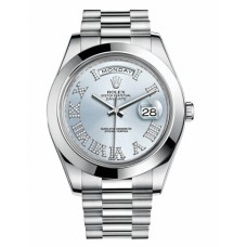 Replica Rolex Day Date II President Platinum Ice blue dial 218206