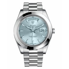 Rolex Day Date II 218206 President Platinum Ice blue dial Replica