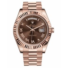 Rolex Day Date II President Pink Gold Brown dial 218235 BRRP Replica