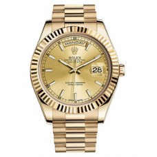 Rolex Day Date II 218238 CHIP President Yellow Gold Chamapgne dial Replica