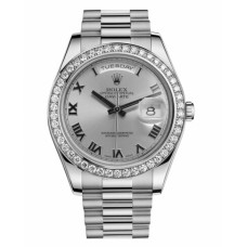 Replica Rolex Day Date II 218349 President White Gold and Diamonds Rhodium dial