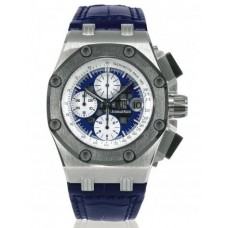 Audemars Piguet Blue Dial Crocodile Leather Strap Men's Chronograph replica watch 26078PO.OO.D018CR.01