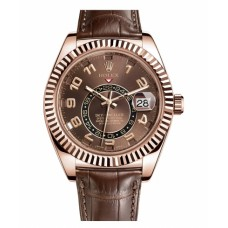 Rolex Sky Dweller Everose Gold Watch 326135 Replica