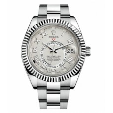 Rolex Sky Dweller White Gold Watch 326939 Replica