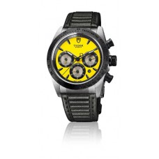 Replica Tudor Fastrider Chronograph Steel and Black Ceramic 42010N Yellow unisex Watch