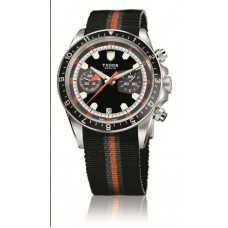 Replica Tudor Heritage Chrono Black SteelAdvisor Steel and Titanium -70330N unisex Watch