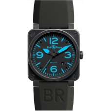 Bell & Ross Aviation BR 03-92 Carbon Blue Mens Limited Edition Replica Watch
