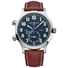 Patek Philippe 5524G-001 Calatrava Pilot Travel Time White Gold 5524G-001