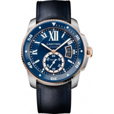 Calibre de Cartier Diver blue watch W2CA0008