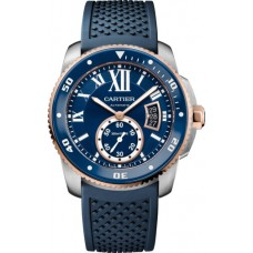 Calibre de Cartier Diver blue watch W2CA0009