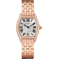 Cartier Tortue Silvered Flinque Dial Ladies Watch
