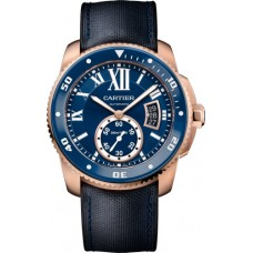 Calibre de Cartier Diver blue watch WGCA0009