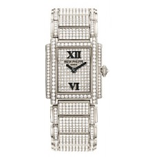 Patek Twenty-4 White Gold w- Diamonds Ladies 4909-50G