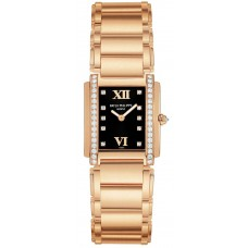 Patek Philippe Black Dial 18kt Rose Gold Diamond Ladies 4908-11R-001