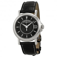 Patek Philippe Calatrava Black Dial 18k White Gold Black Leather 5153G-001