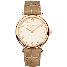 Patek Philippe Calatrava Cream Dial 18k Rose Gold Ladies 7200R