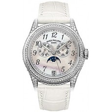 Patek Philippe Complicated 18kt White Gold Moon Phase Diamond Ladies 4937G