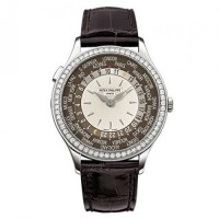Patek Philippe Complication Mechanical Ivory and Brown Dial 7130G-010