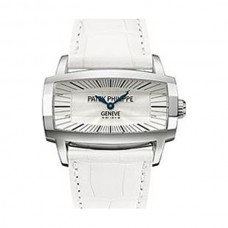 Patek Philippe Gondolo Gemma Mother Of Pearl Dial White Leather Ladies 4980G