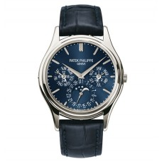 Patek Philippe Grand Complications Blue Dial Platinum Blue Leather 5140P