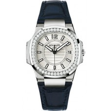 Patek Philippe Nautilus 18kt White Gold Diamond Case Ladies 7010G