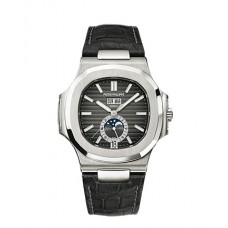 Patek Philippe Nautilus Automatic GMT Moonphase Black Dial Stainless Steel 5726A-001
