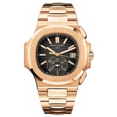 Patek Philippe Nautilus Black Dial 18kt Rose Gold Chronograph Automatic 5980-1R-001